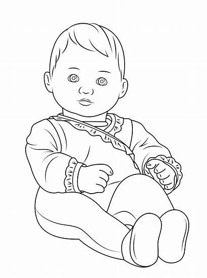 Coloring Pages Doll American