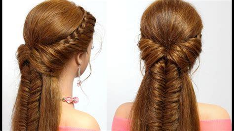 easy hairstyle  long hair  braids tutorial youtube