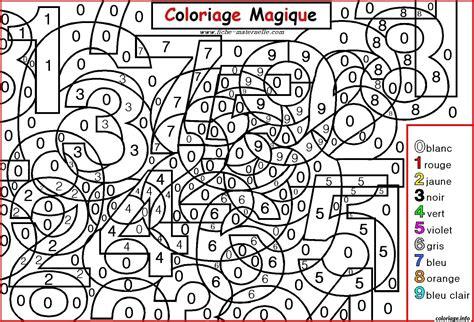 Coloriage Magique Chiffres Maternelle Dessin