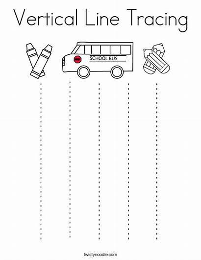 Tracing Vertical Line Preschool Coloring Lines Trace
