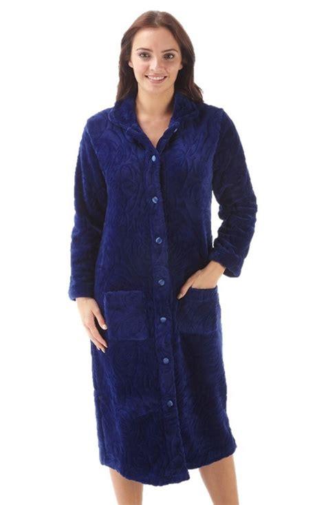 peignoir femme à boutons robe de chambre polaire hiver
