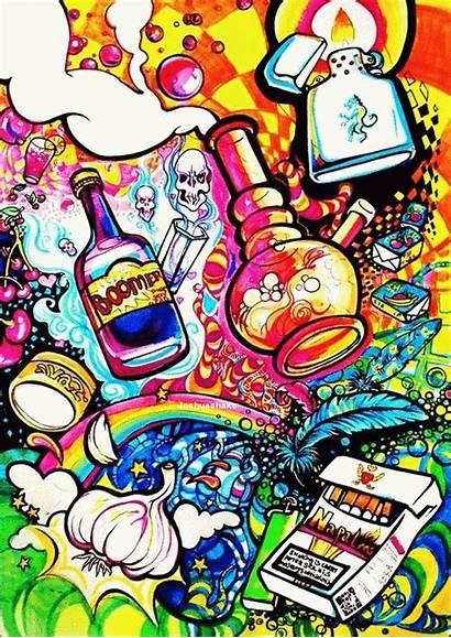 Trippy Weed Acid Bong Lsd Drugs Illusion