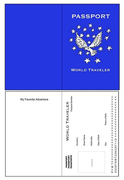 premium printable passport templates