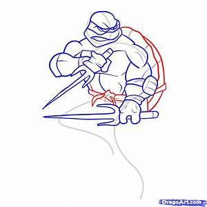 How To Draw A Ninja Turtle Step By Step Characters Pop