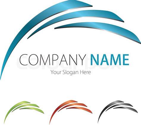 company logo design company business logo design vector arc stock vector