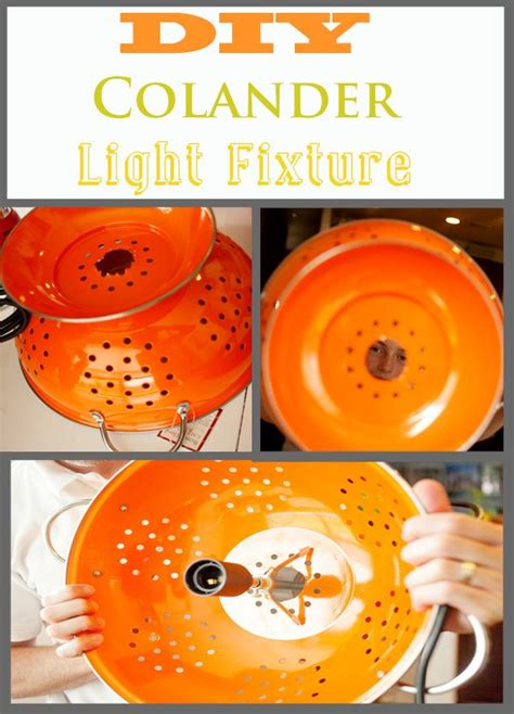 25 best ideas about colander light on