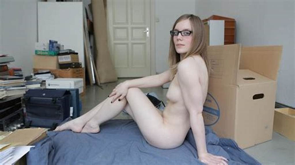 #Busty #Blonde #Student #In #Glasses #Posing #Nude