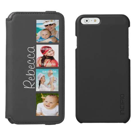 custom photo collage customizable iphone  wallet case