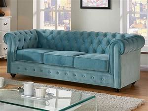 Chesterfield Sofa Samt : chesterfield couchgarnitur samt anna 3 1 1 blau g nstig ~ Whattoseeinmadrid.com Haus und Dekorationen