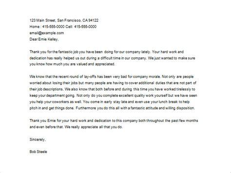 letter  employee appreciation employee appreciation letter