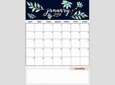 January 2019 Calendar Template Daily Work In Design