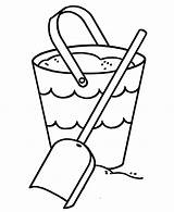 Shovel Cliparts Coloring Pail Bucket Sand Preschool Projects sketch template