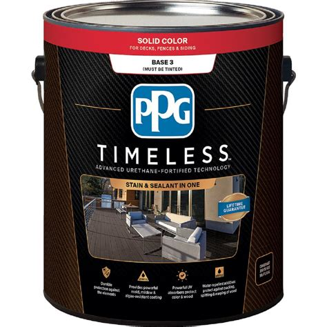ppg timeless 1 gal solid color exterior wood stain tint