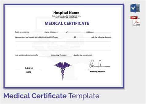 medical certificate format  sick leave  student