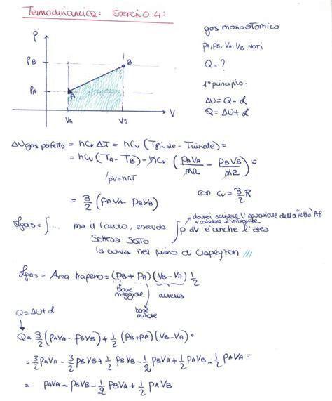 termodinamica dispense fisica 1 termodinamica esercizio 4 la matepratica