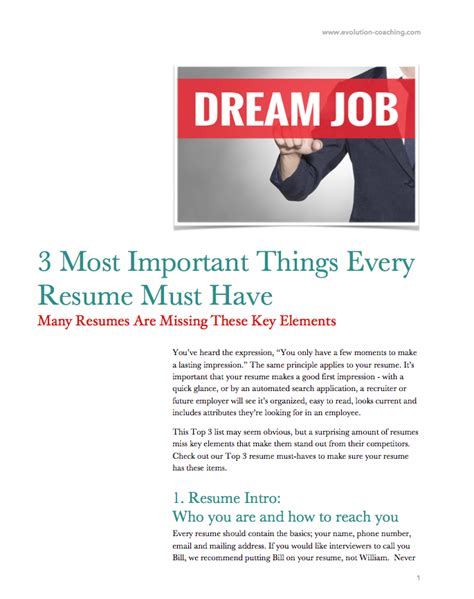 Important Things To List On A Resume by 3 Most Important Things That Every Resume Must