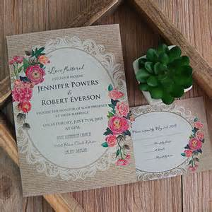inexpensive wedding invitations cheap vintage rustic roses wedding invitations ewi397 as low as 0 94