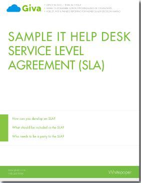 help desk customer service sle slas for help desk customer service best