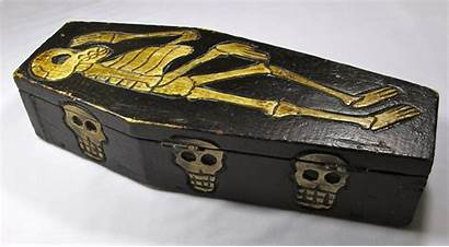 Coffin Wooden Handmade Carved Orleans Skeletons Pzbaubles