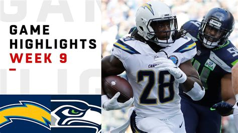 chargers  seahawks week  highlights nfl  youtube