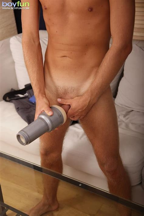 amateur european twink strokes his big uncut cock with a fleshlight twink lust