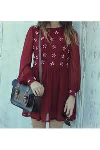 Maroon Dress with Shoes