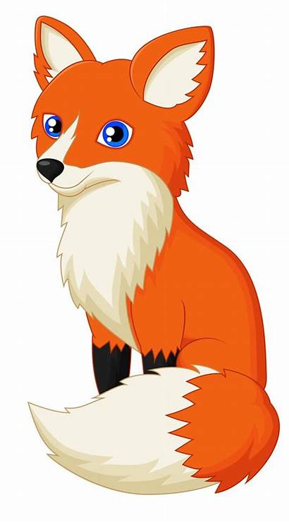 Fox Clipart Clip Cartoon Drawing Fuchs Foxes