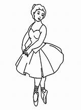 Coloring Ballerina Pages Printable Balerina sketch template