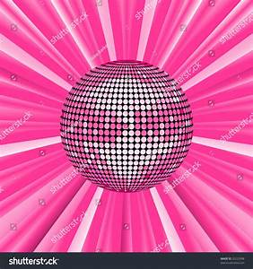 Pink Disco Ball Background Vector Illustration Stock ...