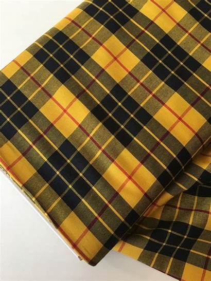 Plaid Fabric Yellow Tartan Scarf