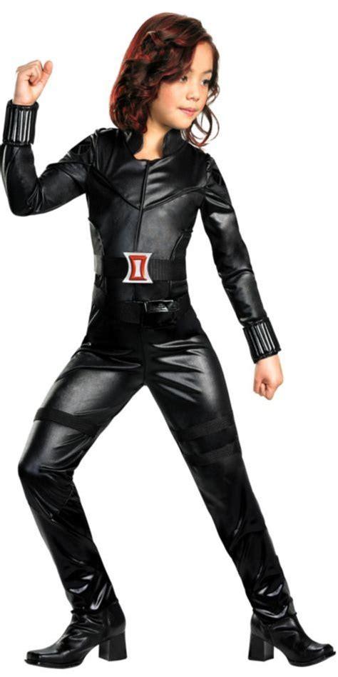 Girls The Avengers Black Widow Costume Party City Black