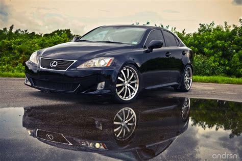 lexus is250 vossen wheels side profile