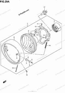 Suzuki Motorcycle 2003 Oem Parts Diagram For Headlamp Assy  Model K5