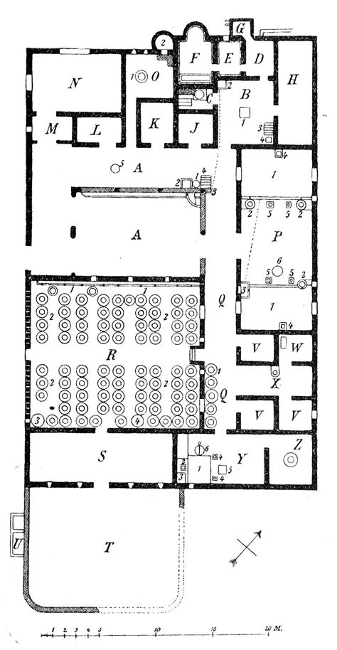kitchen dining room floor plans file villa boscoreale plan png wikimedia commons