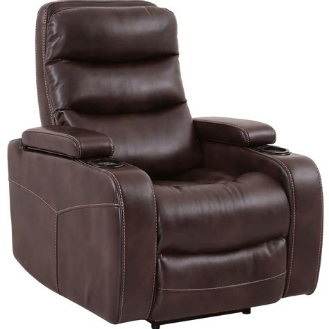 recliner with cup holder living genesis mgen 812p tru contemporary home