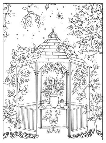 garden coloring pages for adults secret garden colouring