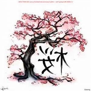 Branch Of Cherry Blossoms Hand Draw Watercolor ...