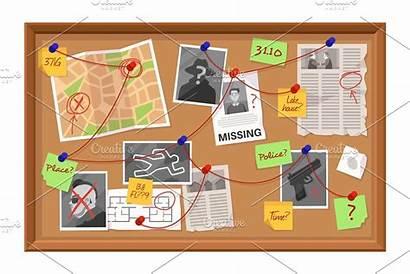 Board Evidence Investigation Crime Creative