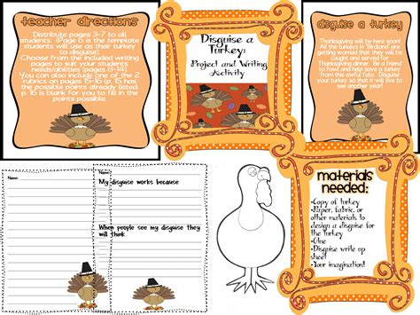 Turkey In Disguise Bulletin Board Template by October 2012 Swinging For Success