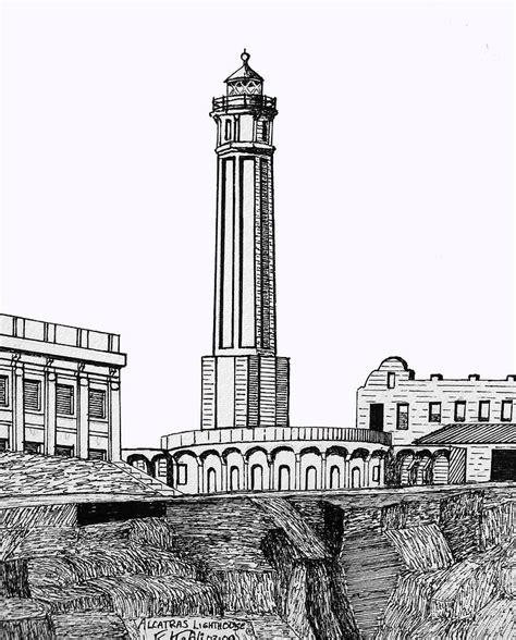 alcatraz island lighthouse drawing  frederic kohli