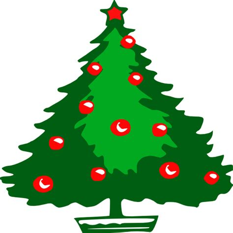christmas tree clip art at clker com vector clip art