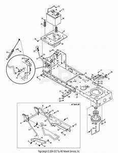 Mtd 13ax795s004  2015  Parts Diagram For Frame And Pto Lift