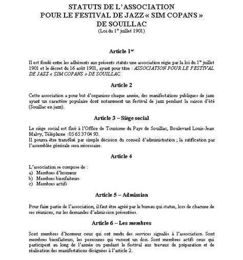 modele statuts association loi 1901 document