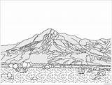 Desert Coloring Pages California Drawing Scene Printable Landscape Adult Landscapes Google Diorama Rush Template Mojave Sheets Gold Nature History Getdrawings sketch template