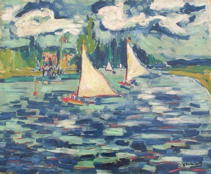 Tugboat On The Seine Chatou by Vlaminck Maurice