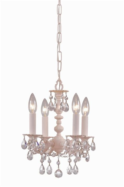 blush wrought iron small mini chandelier with