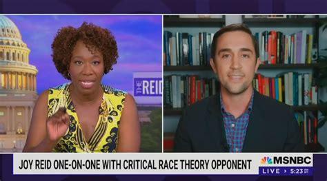 joy reid christopher rufo clash  critical race theory