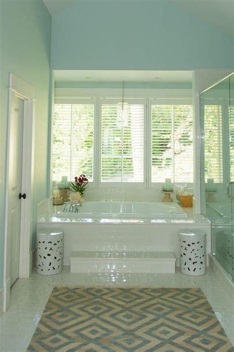 Spa Blue Bathroom by Light Blue Bathroom With Spa Like Bathtub Hgtv
