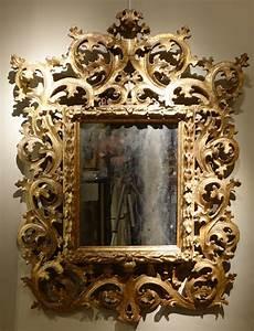 Miroir Baroque Doré : miroir baroque italien en bois dor a mecca xviiie si cle ~ Teatrodelosmanantiales.com Idées de Décoration