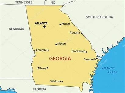 Georgia Map State Atlanta Vector Usa States